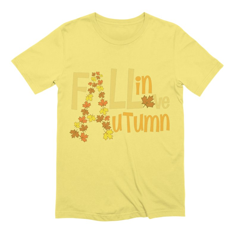 Fall in Autumn Men's Extra Soft T-Shirt by PickaCS's Artist Shop