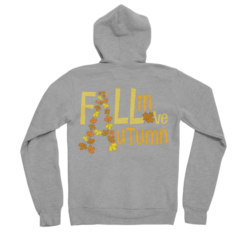 Fall in Autumn Women's Sponge Fleece Zip-Up Hoody by PickaCS's Artist Shop