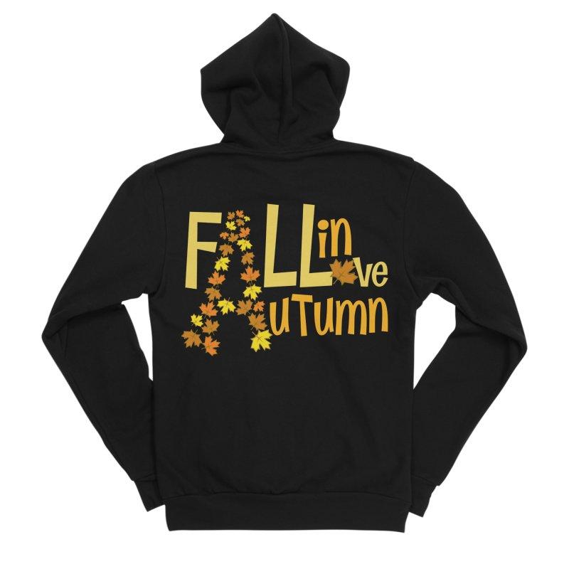 Fall in Autumn Women's Sponge Fleece Zip-Up Hoody by PickaCS's Artist Shop