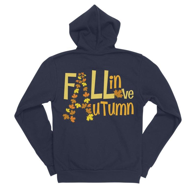 Fall in Autumn Men's Sponge Fleece Zip-Up Hoody by PickaCS's Artist Shop