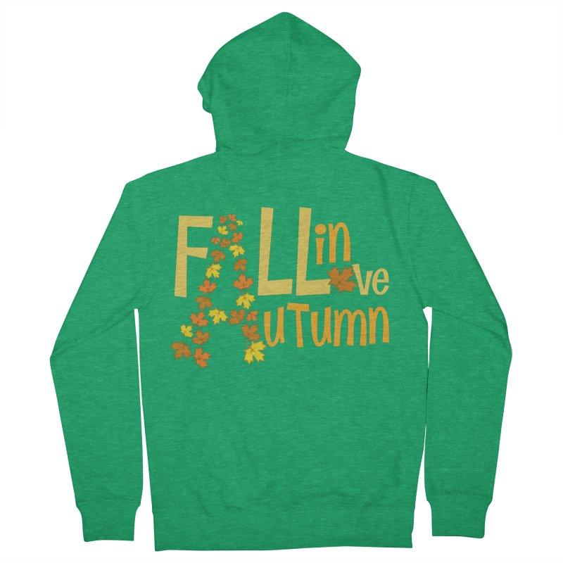 Fall in Autumn Men's Zip-Up Hoody by PickaCS's Artist Shop