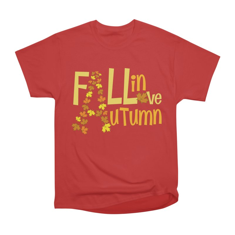 Fall in Autumn Men's Heavyweight T-Shirt by PickaCS's Artist Shop