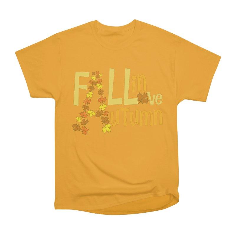 Fall in Autumn Women's Heavyweight Unisex T-Shirt by PickaCS's Artist Shop