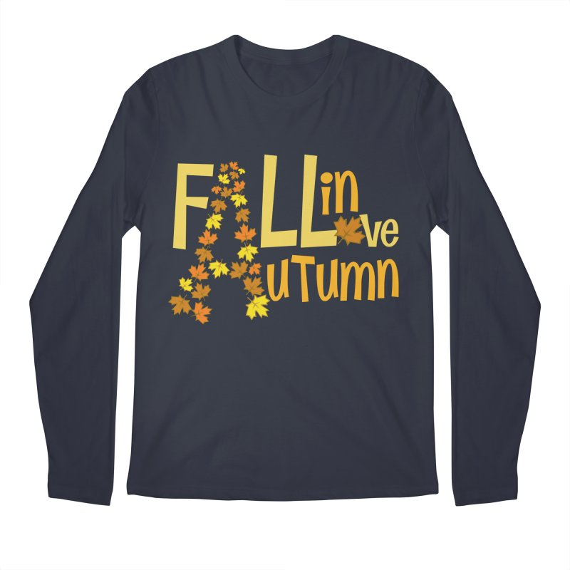 Fall in Autumn Men's Regular Longsleeve T-Shirt by PickaCS's Artist Shop