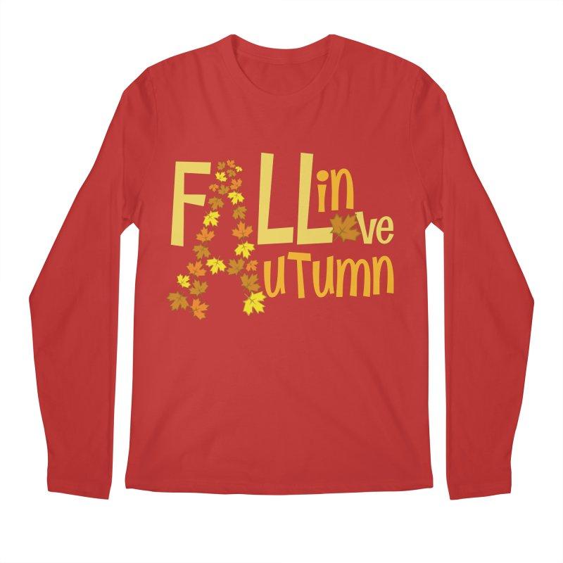 Fall in Autumn Men's Regular Longsleeve T-Shirt by PickaCS's Artist Shop