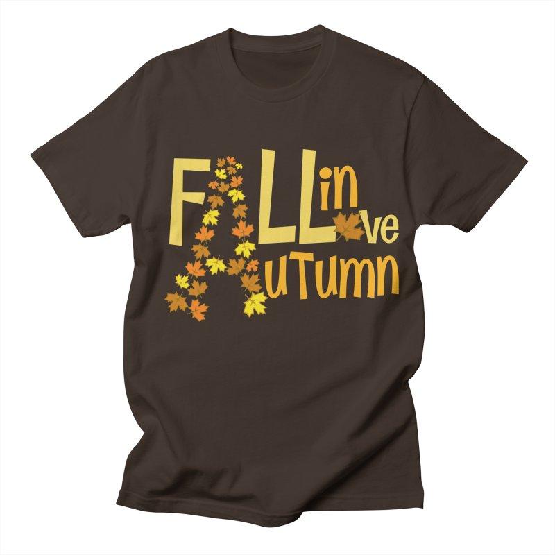 Fall in Autumn Men's Regular T-Shirt by PickaCS's Artist Shop