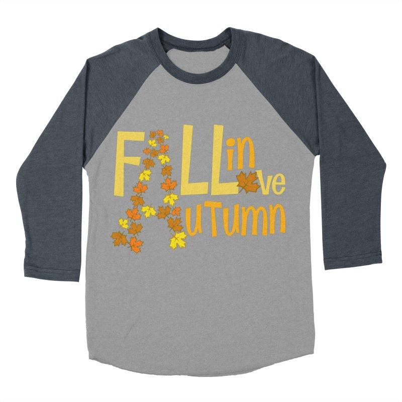 Fall in Autumn Men's Baseball Triblend Longsleeve T-Shirt by PickaCS's Artist Shop