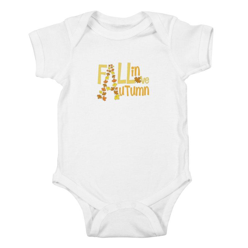 Fall in Autumn Kids Baby Bodysuit by PickaCS's Artist Shop