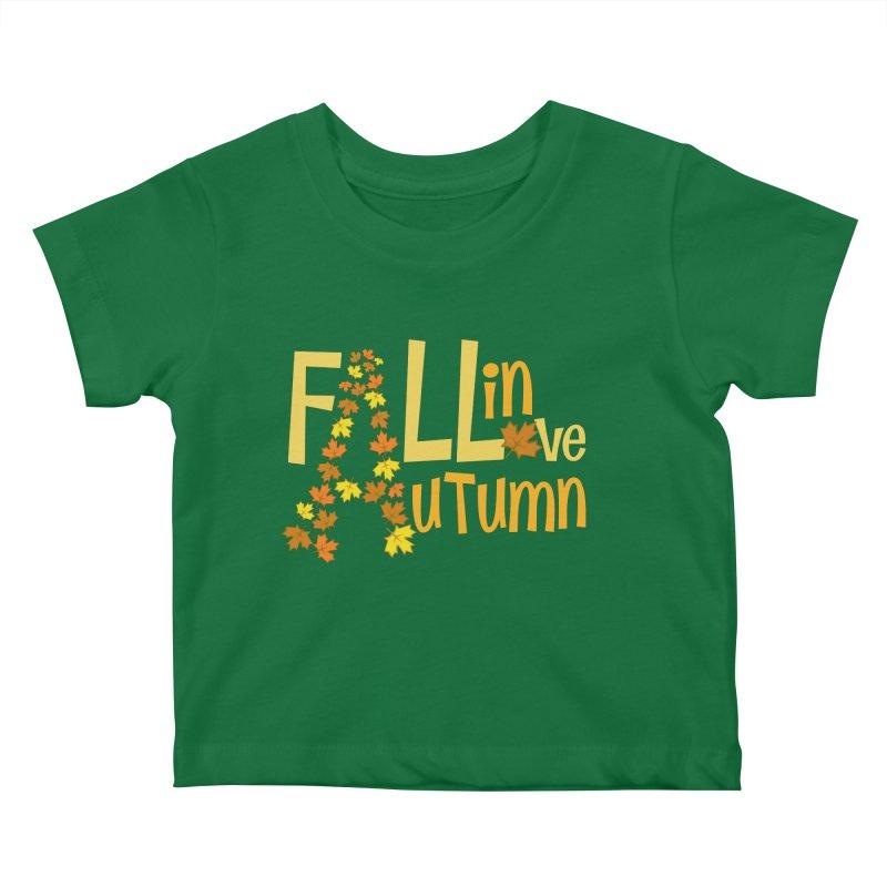 Fall in Autumn Kids Baby T-Shirt by PickaCS's Artist Shop