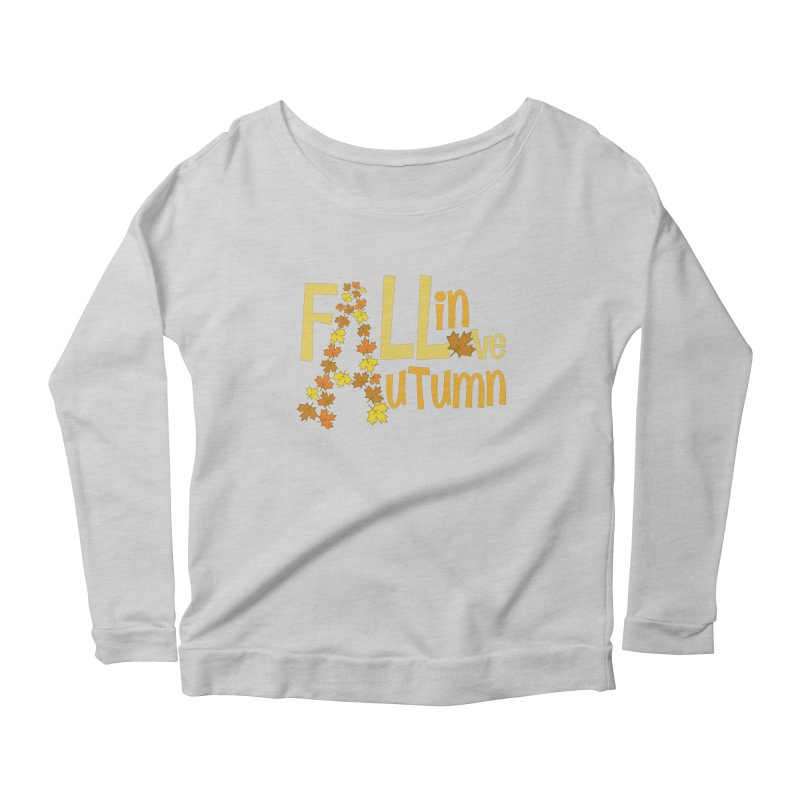 Fall in Autumn Women's Scoop Neck Longsleeve T-Shirt by PickaCS's Artist Shop