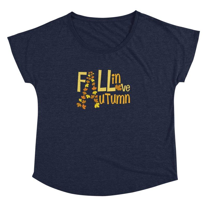 Fall in Autumn Women's Dolman Scoop Neck by PickaCS's Artist Shop