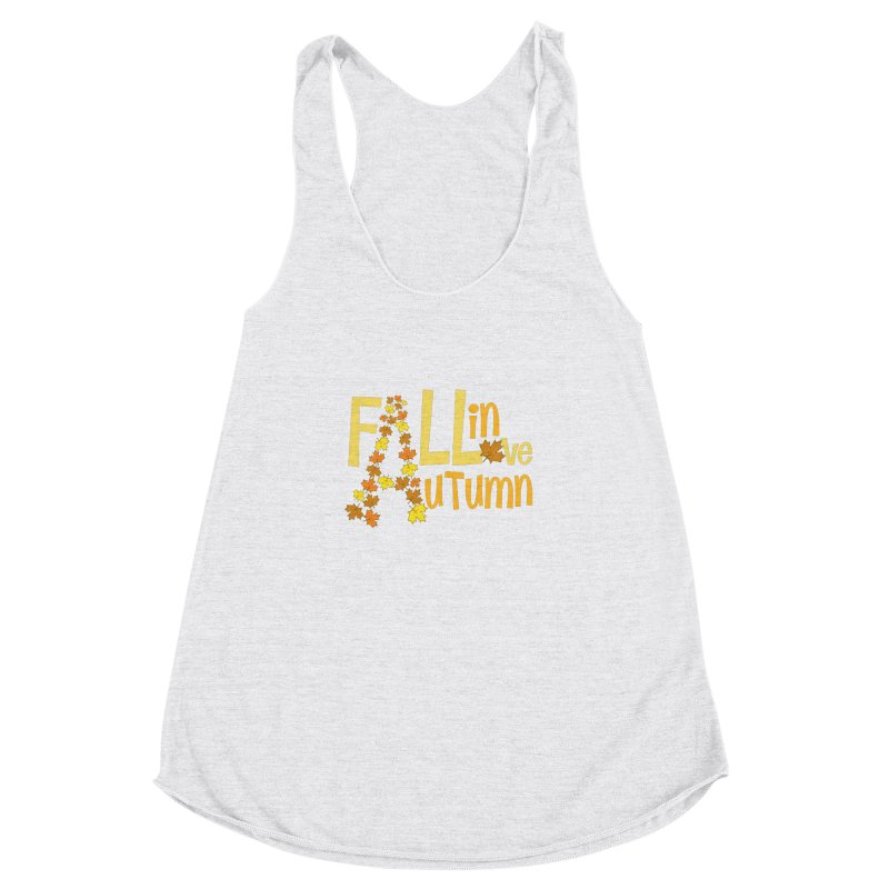 Fall in Autumn Women's Racerback Triblend Tank by PickaCS's Artist Shop