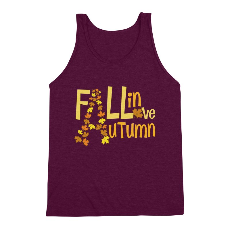 Fall in Autumn Men's Triblend Tank by PickaCS's Artist Shop