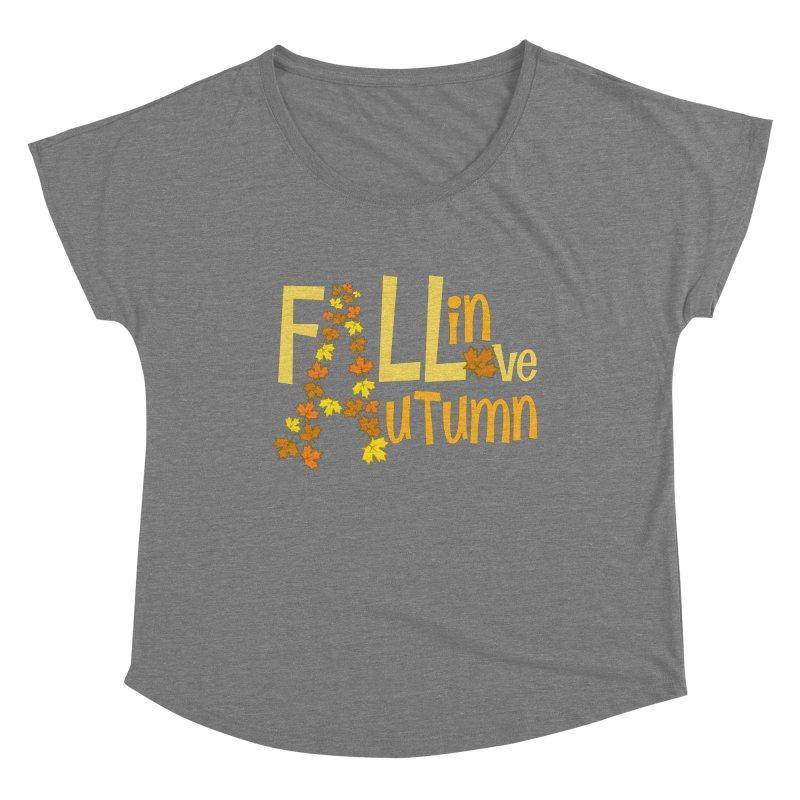 Fall in Autumn Women's Scoop Neck by PickaCS's Artist Shop
