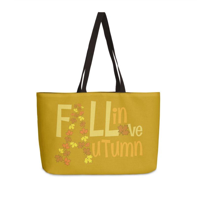 Fall in Autumn Accessories Weekender Bag Bag by PickaCS's Artist Shop