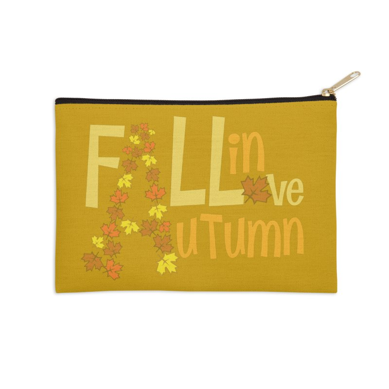 Fall in Autumn Accessories Zip Pouch by PickaCS's Artist Shop