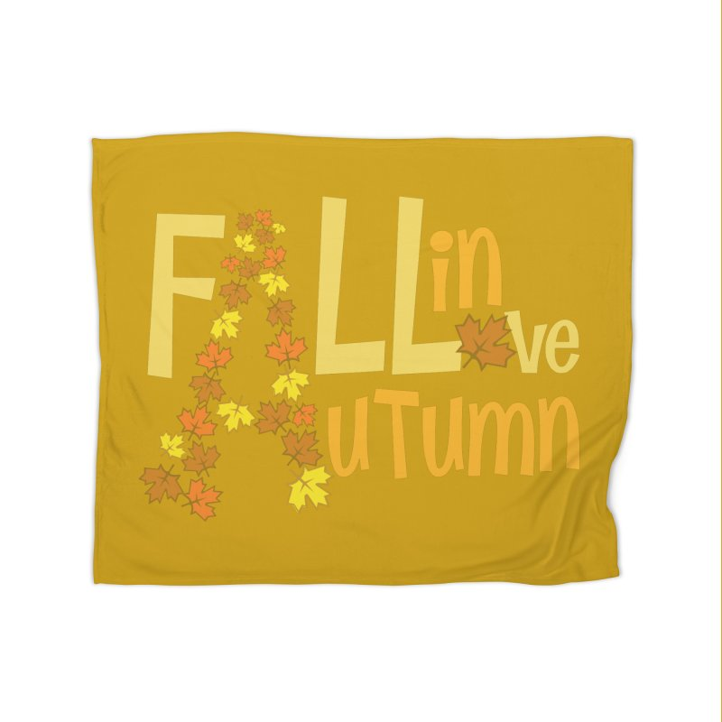 Fall in Autumn Home Fleece Blanket Blanket by PickaCS's Artist Shop