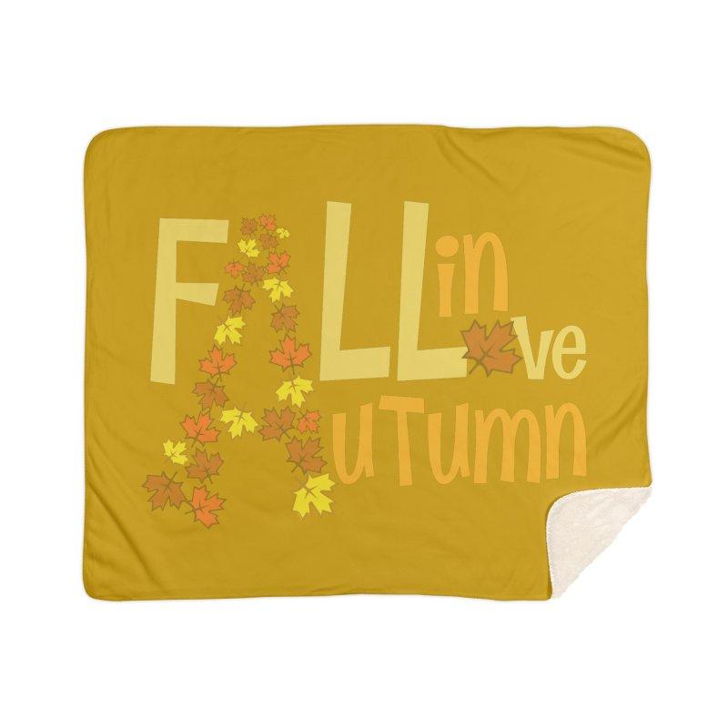 Fall in Autumn Home Sherpa Blanket Blanket by PickaCS's Artist Shop