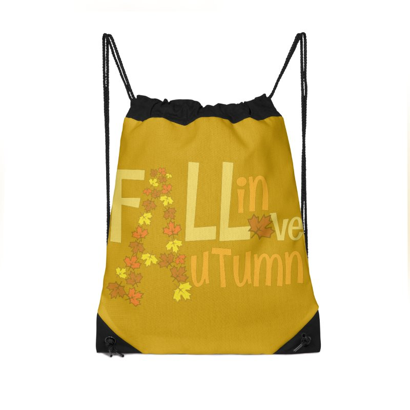 Fall in Autumn Accessories Drawstring Bag Bag by PickaCS's Artist Shop
