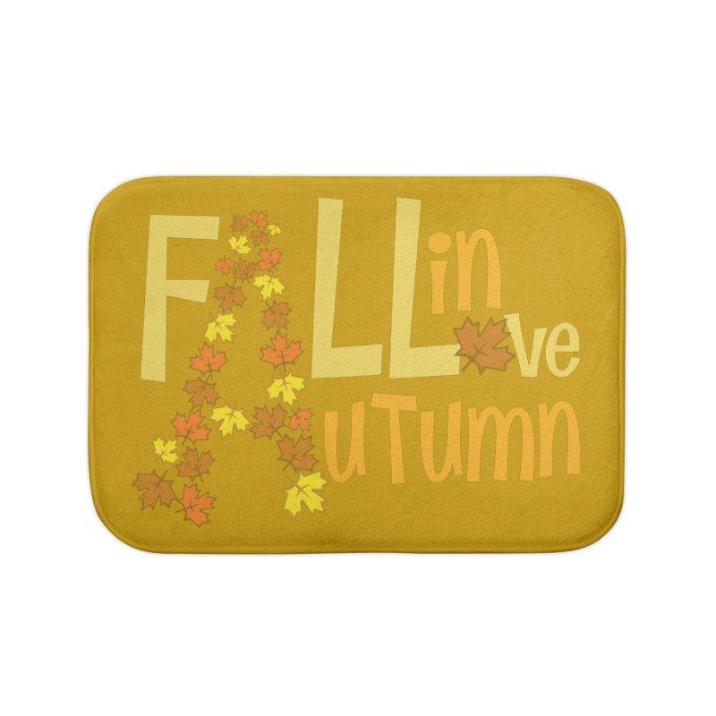 Fall in Autumn Home Bath Mat by PickaCS's Artist Shop