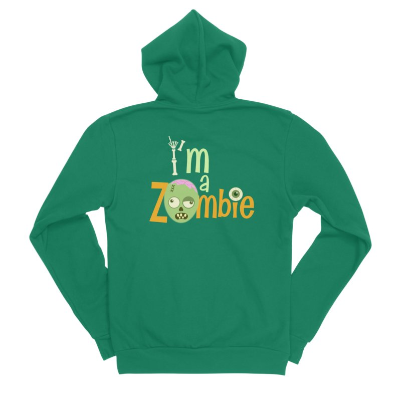 I'm a Zombie! Men's Sponge Fleece Zip-Up Hoody by PickaCS's Artist Shop
