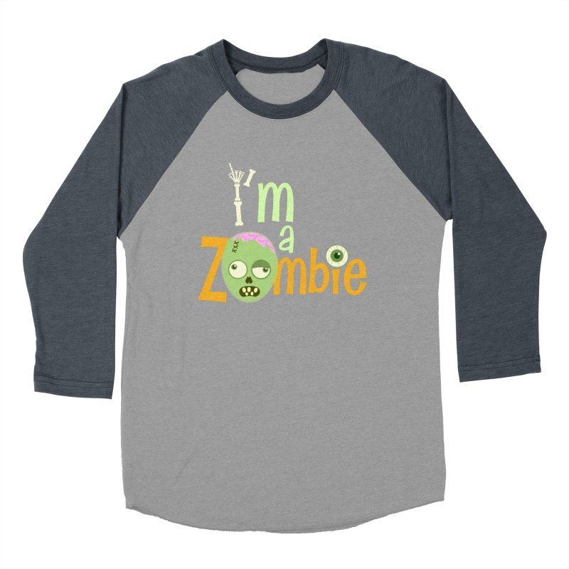 I'm a Zombie! Men's Baseball Triblend Longsleeve T-Shirt by PickaCS's Artist Shop