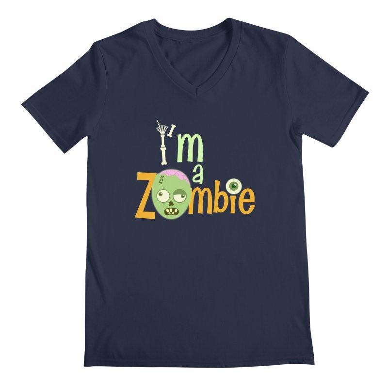 I'm a Zombie! Men's Regular V-Neck by PickaCS's Artist Shop