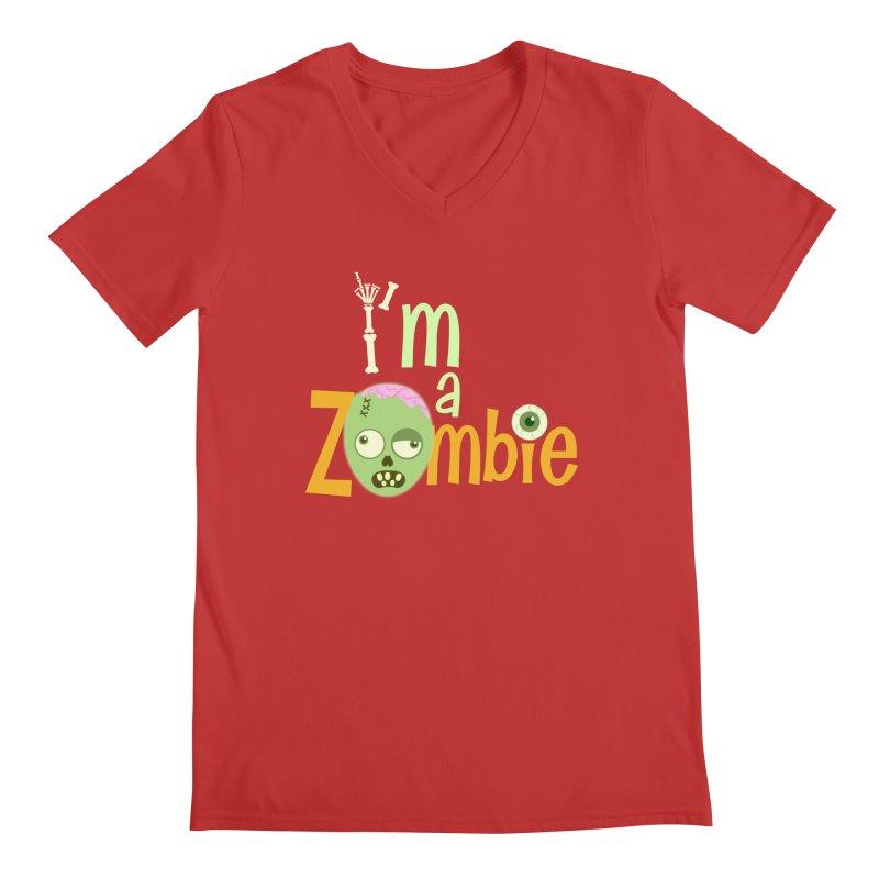 I'm a Zombie! Men's V-Neck by PickaCS's Artist Shop