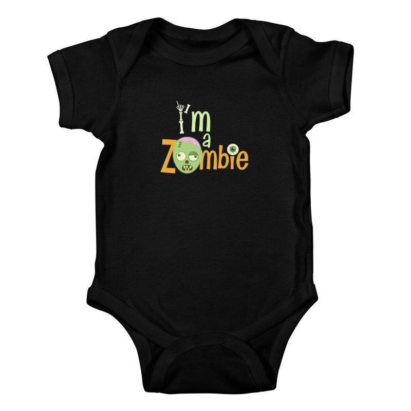 I'm a Zombie! Kids Baby Bodysuit by PickaCS's Artist Shop