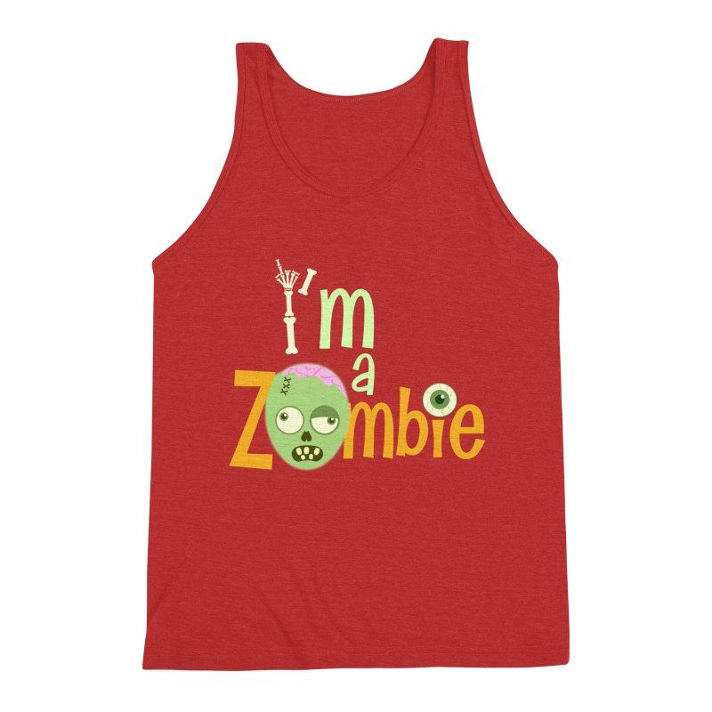 I'm a Zombie! Men's Triblend Tank by PickaCS's Artist Shop
