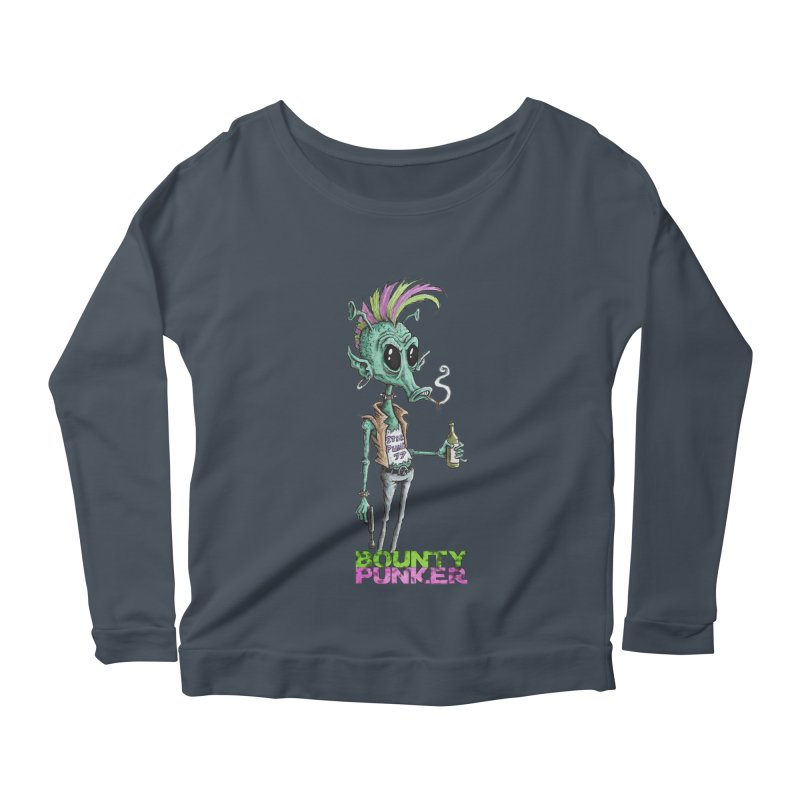 Bounty Punker Women's Scoop Neck Longsleeve T-Shirt by Pickled Circus