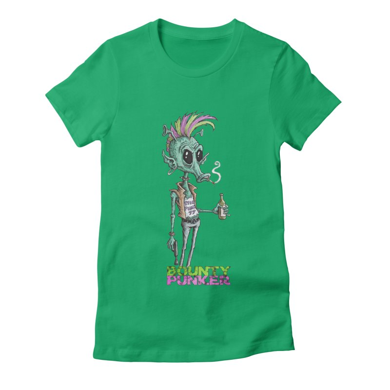 Bounty Punker Women's Fitted T-Shirt by Pickled Circus