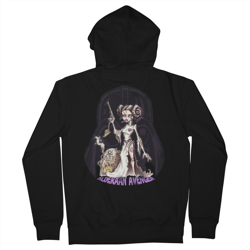 Alderaan Avenger Women's French Terry Zip-Up Hoody by Pickled Circus
