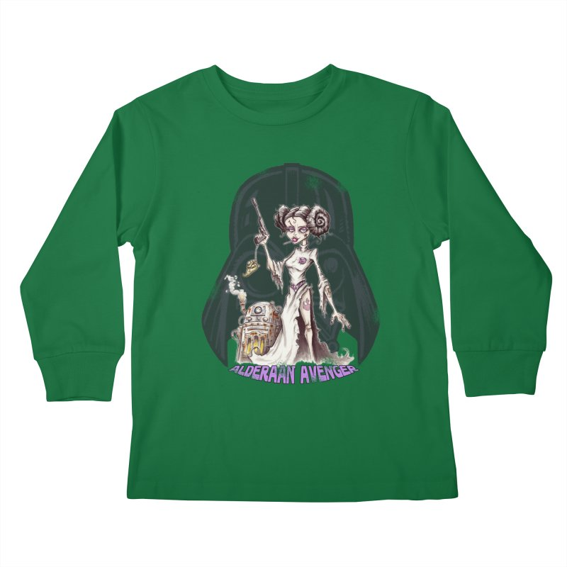 Alderaan Avenger Kids Longsleeve T-Shirt by Pickled Circus