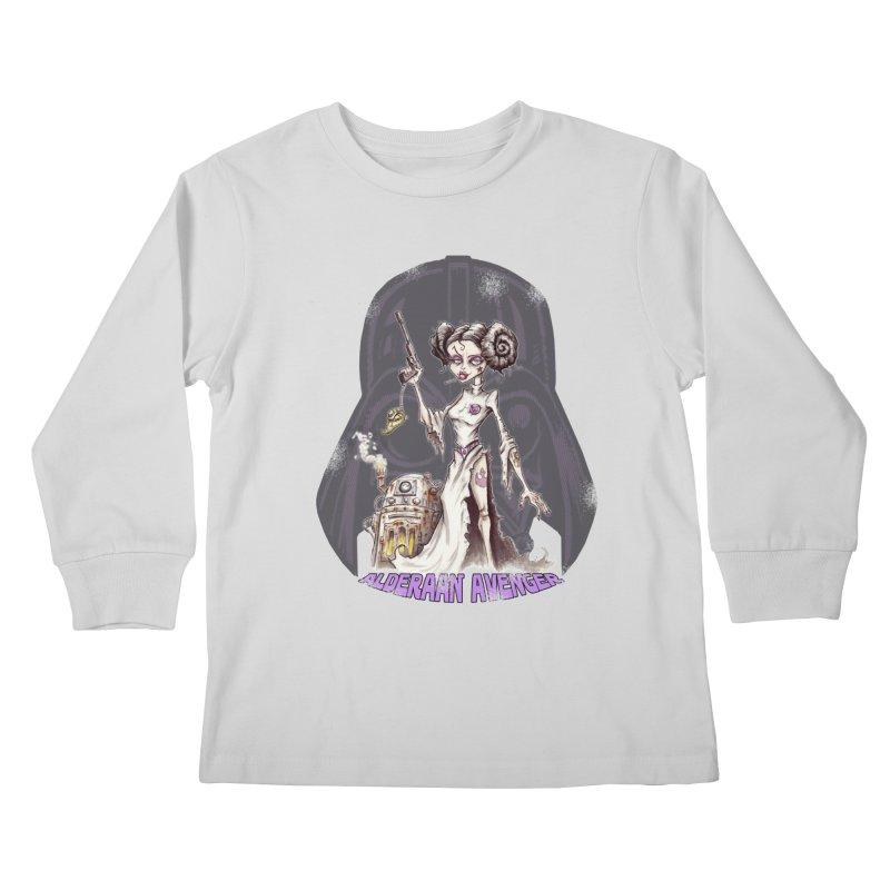 Alderaan Avenger Kids Longsleeve T-Shirt by Pickled Circus