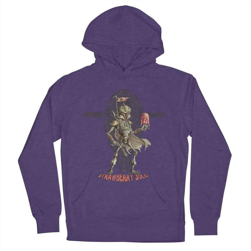 Strawberry Solo Women's French Terry Pullover Hoody by Pickled Circus
