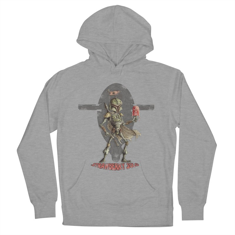 Strawberry Solo Men's French Terry Pullover Hoody by Pickled Circus