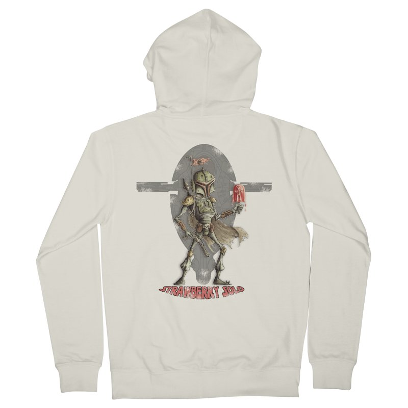 Strawberry Solo Women's French Terry Zip-Up Hoody by Pickled Circus