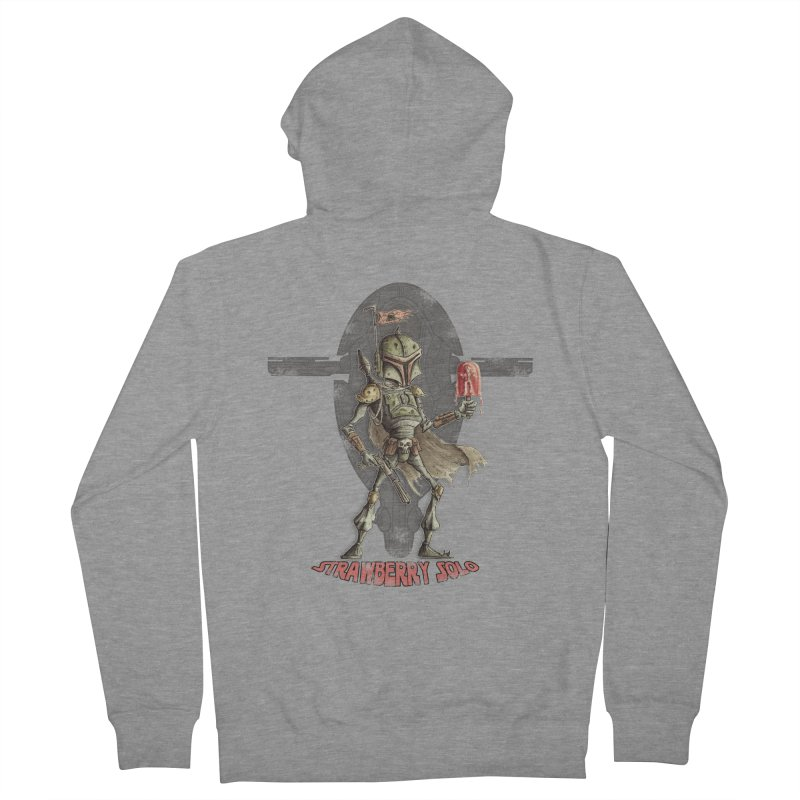 Strawberry Solo Men's French Terry Zip-Up Hoody by Pickled Circus