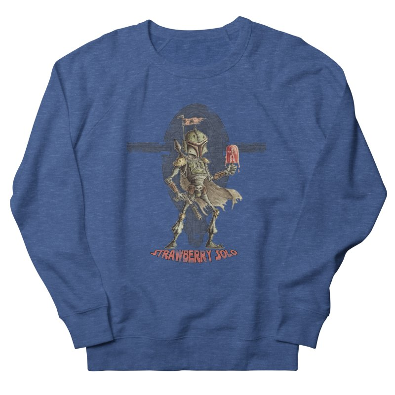 Strawberry Solo Men's French Terry Sweatshirt by Pickled Circus