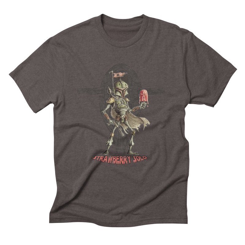 Strawberry Solo Men's Triblend T-Shirt by Pickled Circus