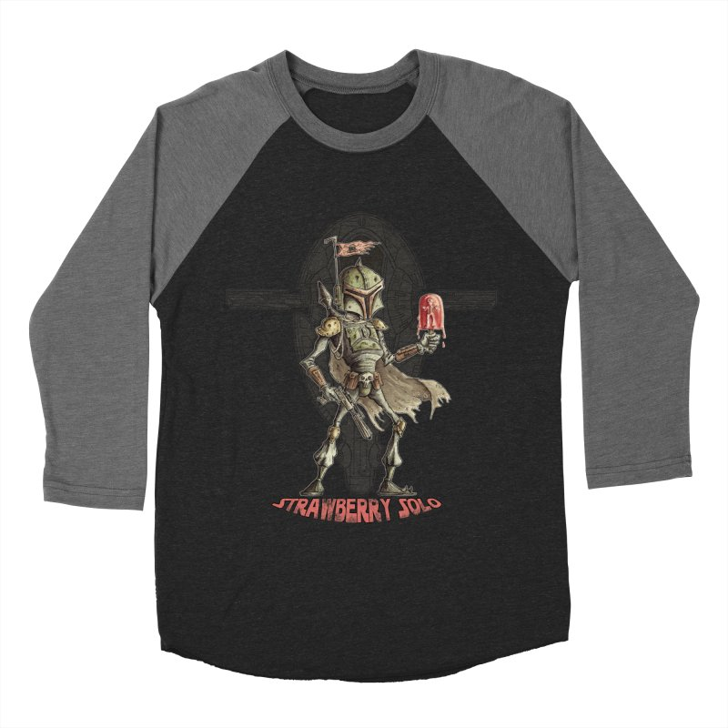 Strawberry Solo Men's Baseball Triblend T-Shirt by Pickled Circus