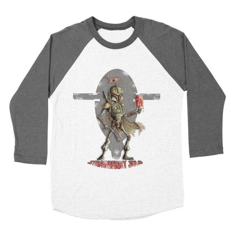 Strawberry Solo Men's Baseball Triblend Longsleeve T-Shirt by Pickled Circus