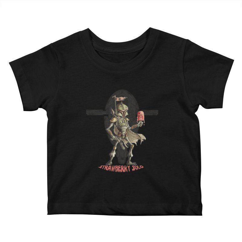 Strawberry Solo Kids Baby T-Shirt by Pickled Circus
