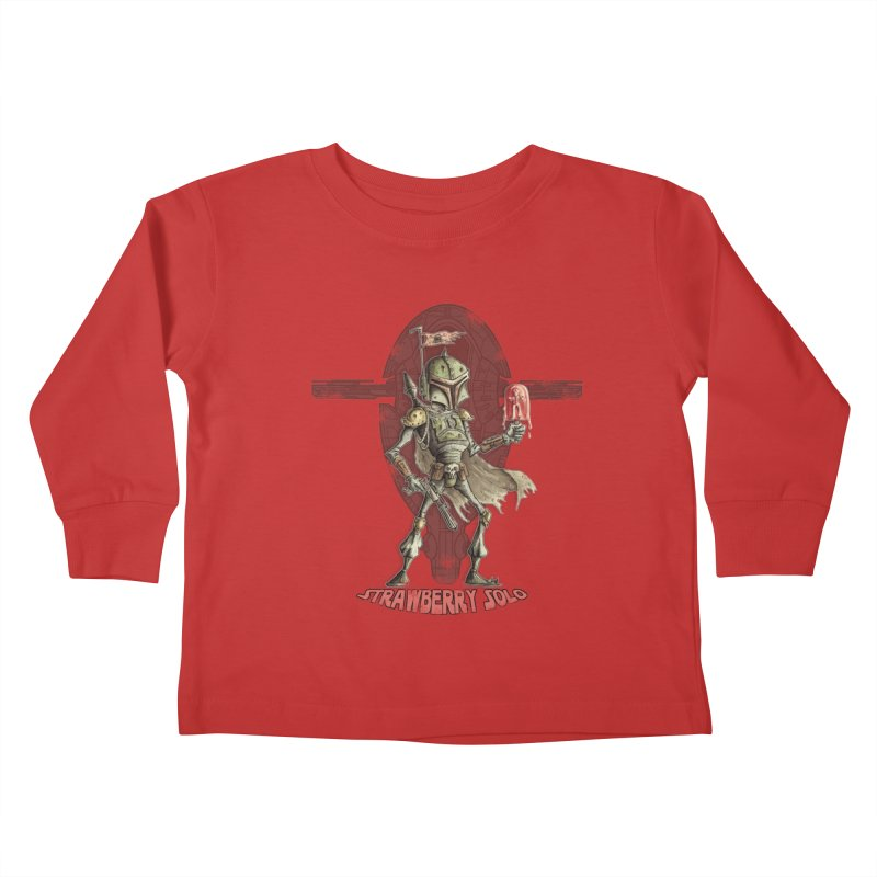 Strawberry Solo Kids Toddler Longsleeve T-Shirt by Pickled Circus