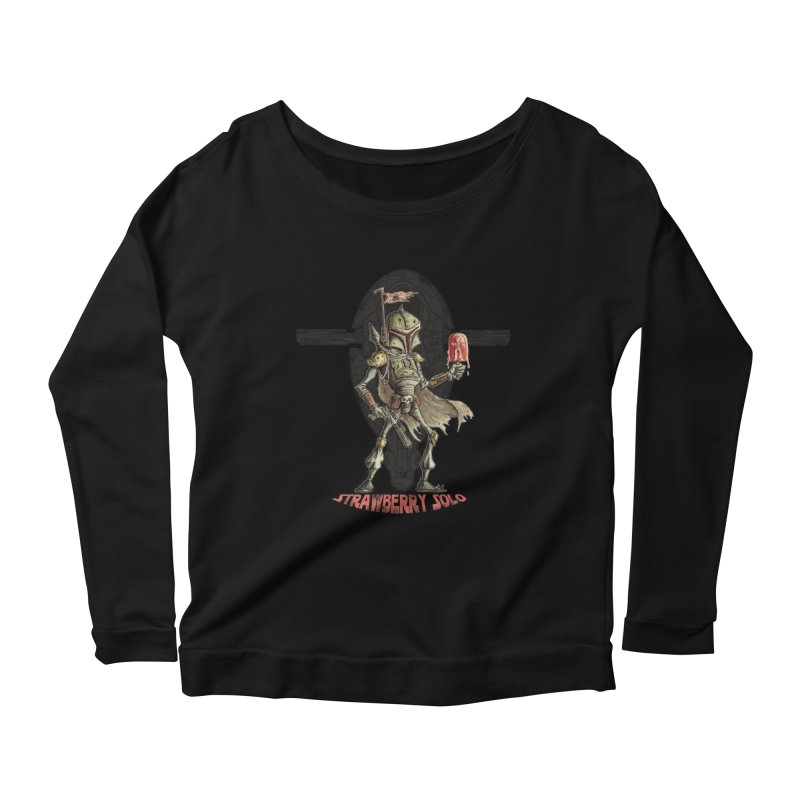 Strawberry Solo Women's Scoop Neck Longsleeve T-Shirt by Pickled Circus