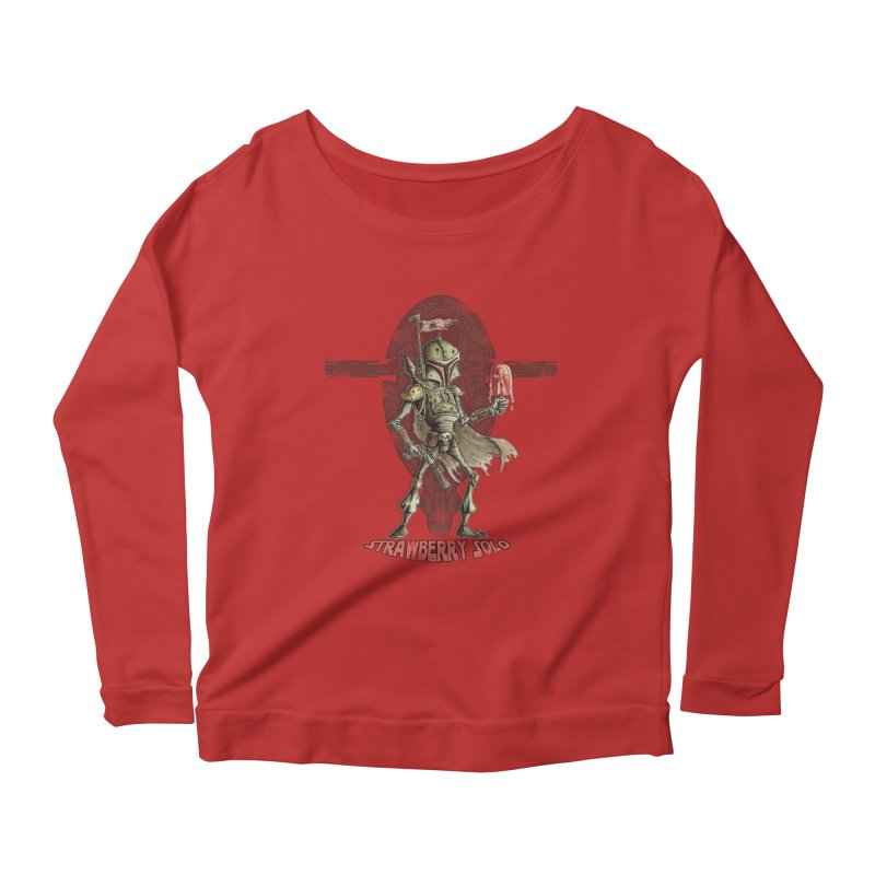 Strawberry Solo Women's Longsleeve Scoopneck  by Pickled Circus