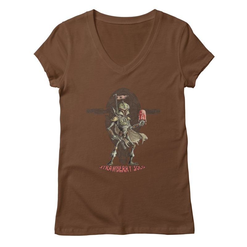 Strawberry Solo Women's V-Neck by Pickled Circus