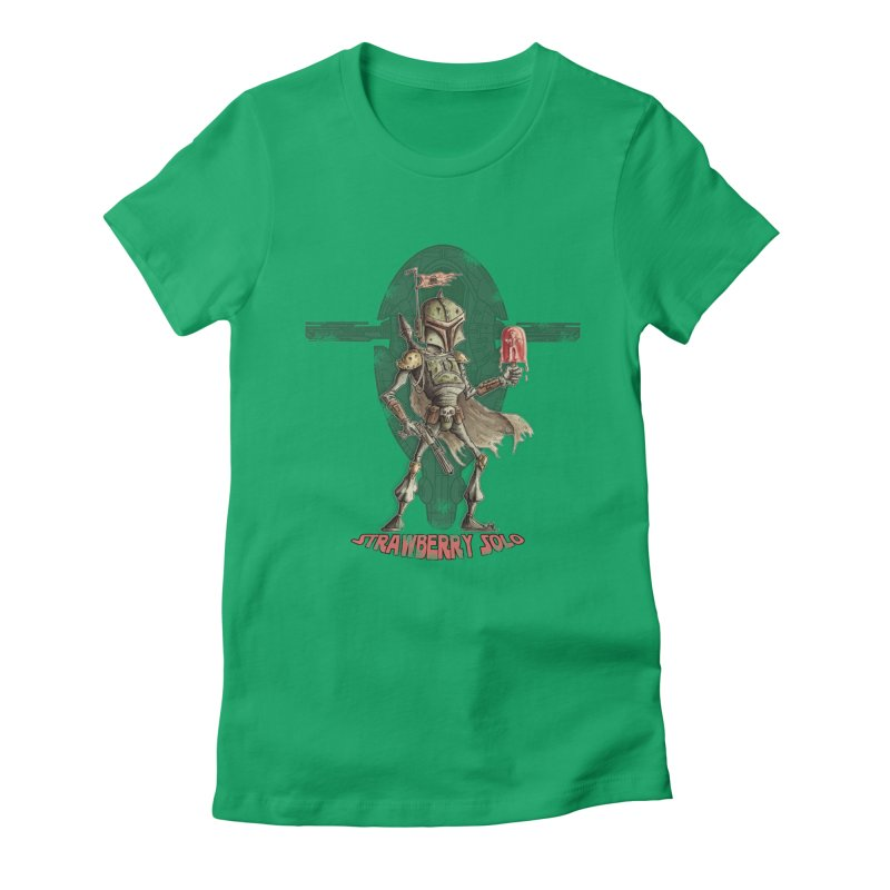 Strawberry Solo Women's Fitted T-Shirt by Pickled Circus