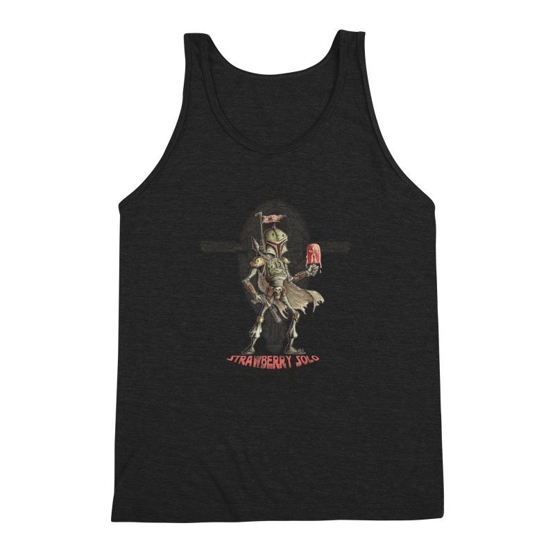 Strawberry Solo Men's Triblend Tank by Pickled Circus